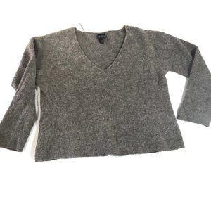 Eileen Fisher S Brown Merino Alpaca V Neck Sweater